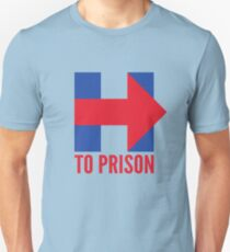 Hillary Clinton To Prison (Logo) T-Shirt