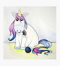 Whimsical Unicorn Photographic Print