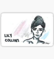 Lily Collins Portrait  Sticker