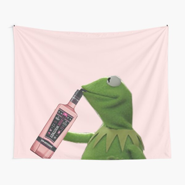 Kermit sipping pink whitney Tapestry