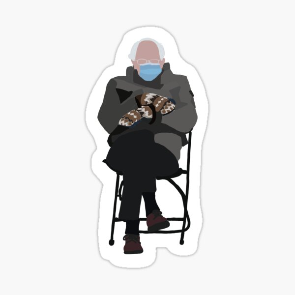 bernie sanders at the inauguration  Sticker