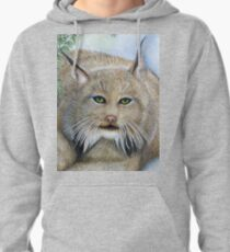 """""""LINUS""""  Canadian Lynx, First Snow Pullover Hoodie"""