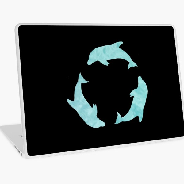Dolphin Circle Water Pattern by Moti for the West Braes Project Laptop Skin
