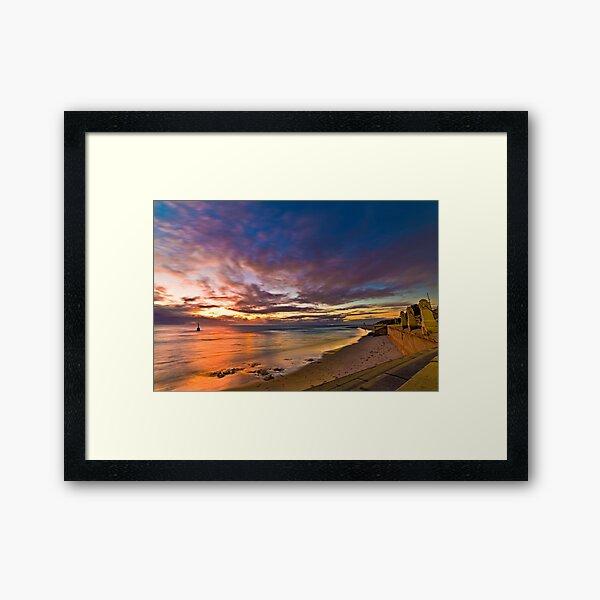 Sunset at Cottesloe 2 Framed Art Print