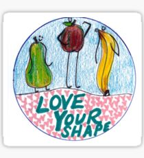 Love Your Shape  Sticker