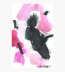 The 1975 Matty Healy Silhouette with Guitar  Photographic Print