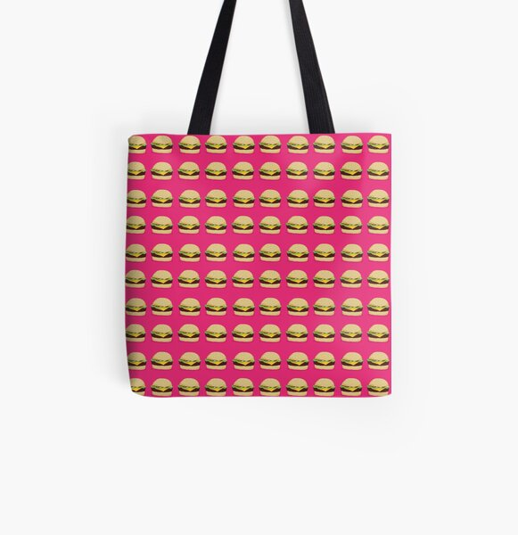 Cheeseburgers All Over Print Tote Bag