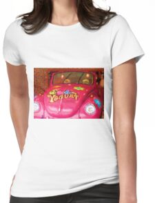 Peace Love  Groovey  Womens Fitted T-Shirt