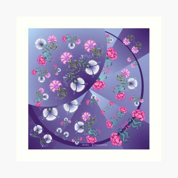 FLORAL ~ Folkart Dianthus for Zipped Hoodies by tasmanianartist 05012021 Art Print
