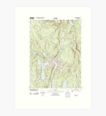 USGS TOPO Map Connecticut CT Winsted 20120521 TM Art Print