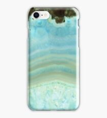 Light Powder Blue Gray Agate Geode Marble Crystal Patterns iPhone Case/Skin