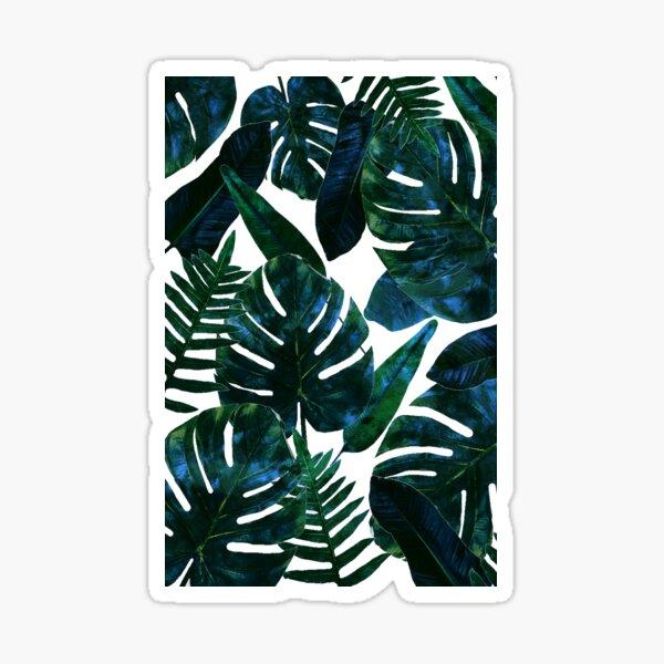 Perceptive Dream, Tropical Botanical Jungle Watercolor Painting, Monstera Palm Nature Bohemian Blush Illustration Sticker