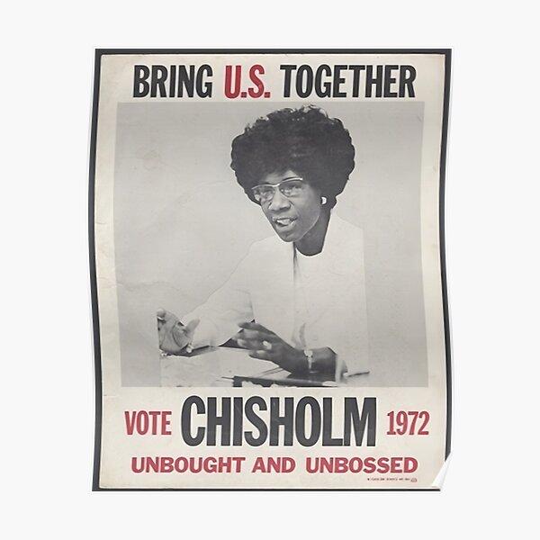 cartel de la campaña de shirley chisholm Póster