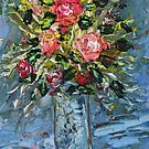 Painting Still Life bouquet of flowers. by Rif Khasanov