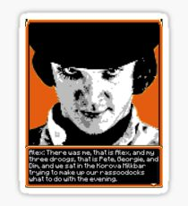 A Clockwork Orange - 8-bit Sticker