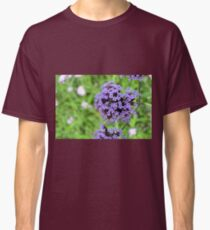 Macro on purple spring flowers. Classic T-Shirt