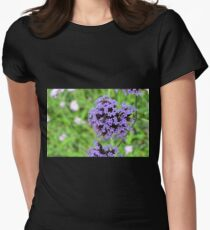 Macro on purple spring flowers. Womens Fitted T-Shirt