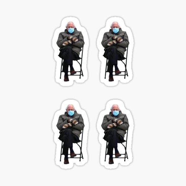 small Bernie Sanders Inauguration Sitting in Chair mini Pack Sticker