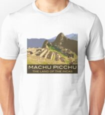 Machu Picchu Commemorative Souvenir Design, in Vintage Travel Poster Style T-Shirt