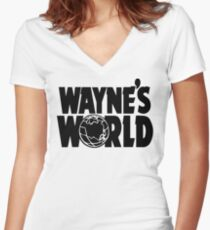 Wayne's World (Inverted) Women's Fitted V-Neck T-Shirt