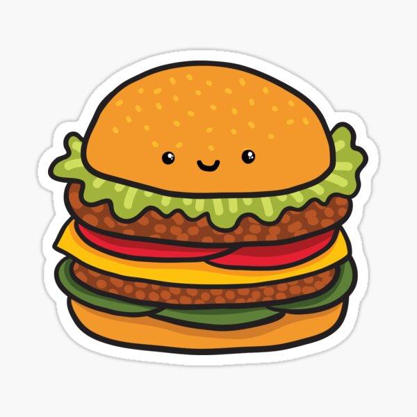 Burger mignon. Restauration rapide de hamburgers. Sticker
