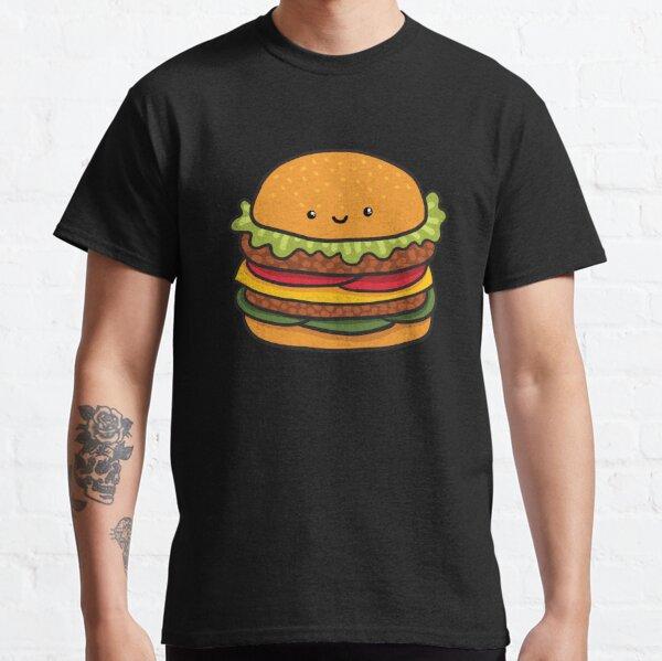 Cute burger. Hamburger fast food. Classic T-Shirt