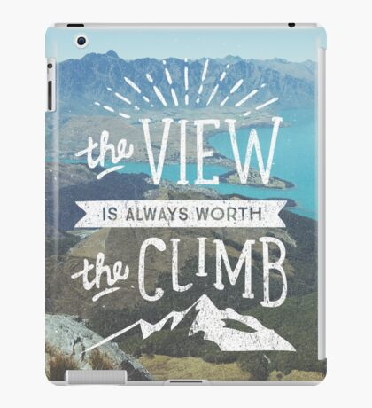 WORTH THE CLIMB iPad Case/Skin