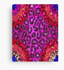 Florescent Pink Orange Cheetah Abstract Pattern  Canvas Print
