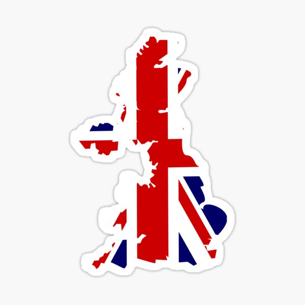 Union Jack Flag United Kingdom Great Britain  Sticker