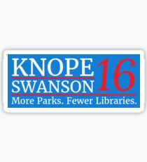 Vote Knope Swanson 2016 Sticker