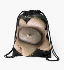 Earth Star Fungus Drawstring Bag