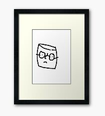 A simple marshmallow trying to live his life in peace Framed Print