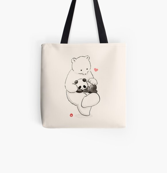Panda Therapy All Over Print Tote Bag