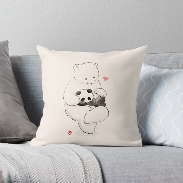Panda Therapy Throw Pillow