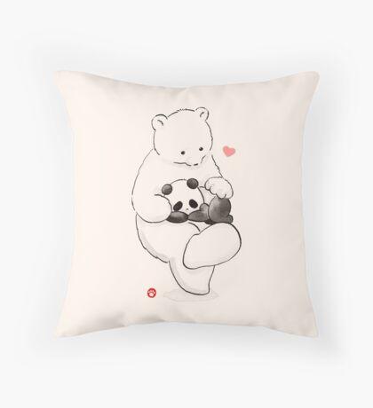 Panda Therapy Throw Pillow