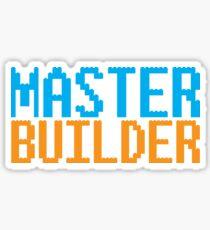 MASTER BUILDER with toy bricks Sticker