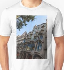 Looking Up to a Masterpiece - Antoni Gaudi's Casa Batllo in Barcelona, Spain Unisex T-Shirt