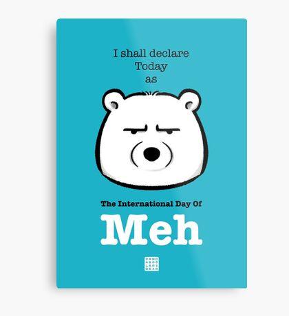 The International Day Of Meh Metal Print