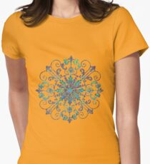 Wrought Iron pattern  Womens Fitted T-Shirt