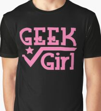 Geek Girl with pi Graphic T-Shirt