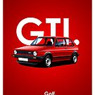 Golf GTI Classic Car Advert by RJWautographics