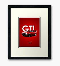 Golf GTI Classic Car Advert Framed Print