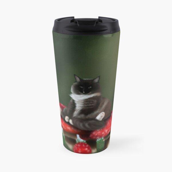 Mushroom Cat  Travel Mug