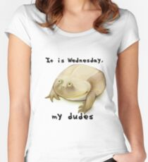 It is Wednesday my dudes  Women's Fitted Scoop T-Shirt