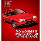 Citroen BX Diesel Classic Car Advert by RJWautographics