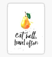 Pear - Eat well, travel often Sticker