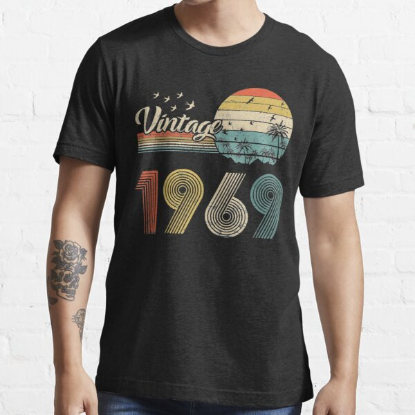Vintage 1969, Born in 1969 Birthday Retro Design,52nd Birthday Gift, 52 Years Old Essential T-Shirt
