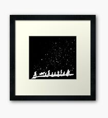 fellowship under starry sky Framed Print
