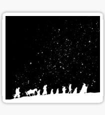 fellowship under starry sky Sticker