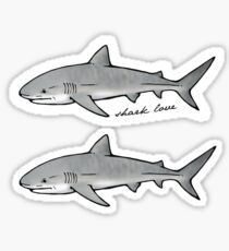 shark love Sticker